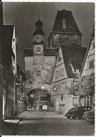 Ansichtskarte Rothenburg ob der Tauber - Röderbogen mit Autos - schwarz/weiß