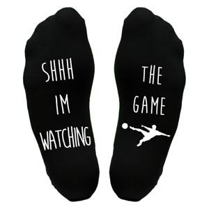 Watching Football 1  Sole Socks Funny Christmas Gift Idea Present Dad Grandad