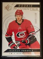 2019 Upper Deck Warren Foegele Rookie Authentics Card #131 1089/ 1199