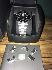 Authentic TAG Heuer MEN'S Aquaracer Quarzo Swiss Watch 300M WAB1110 Quadrante Nero