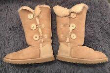 UGG Australia Women's Bailey Button Triplet II Tall Boots Size 6 GUC