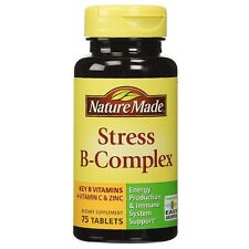 Nature Made Stress B-Complex Dietary Tablets with Vitamin C - Zinc 75 ea