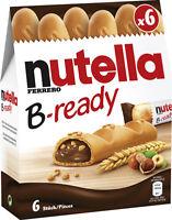 FERRERO - Nutella B-Ready - 6 Sticks - German Production - NEW