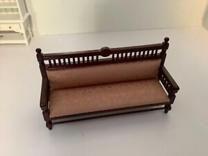 Dollhouse Miniatures Furniture Mahogany Living Room, Den Sofa