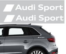 2 adesivi logo audi sport stickers bianchi side fiancate A1 A3 A4 A5 A6 Q3 Q5 TT