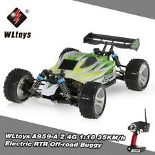 WLtoys A959-A 2.4G 1/18 Scale 4WD Electric RTR Off-road Buggy RC Car Gift F9A1