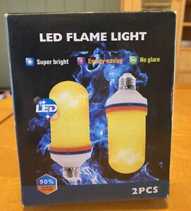 LED flame light E26 4pk brand new Flame Effect Light Bulb Super Cool!!! LOOK!!!!