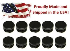 """10 - 1"""" Round Tubing Plastic Hole Plug End Cap, 1 Inch OD Tube Pipe Cover"""