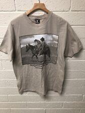 Drunken Cowboy Designated Driver Arizona Dog Riding A Horse T Shirt Size Large