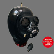 Latex Rubber Gas Mask inflatable Hood aufblasbare Haube - custom-made - bl07