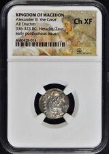 336-323 BC Alexander III Drachm NGC CH XF Kingdom of Macedon
