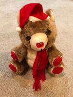 "13"" VINTAGE HOUSE OF LLOYD MUSICAL CHRISTMAS TEDDY BEAR TOY STUFFED ANIMAL PLUSH"