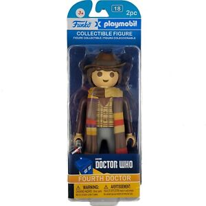 """Funko x Playmobil Fourth 4th Doctor Who TOM BAKER Collectable 7"""" Figure"""
