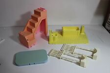 Playskool Dollhouse Replacement Parts lot of Stairs, tub, rail