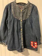 Vintage Wrangler Jean Dress Size 2T W/ Horseshoe & Cutest Snaps!