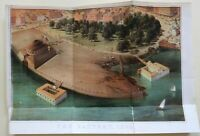 The Battery New York City 1869 Bird's Eye View Battery Park color litho print