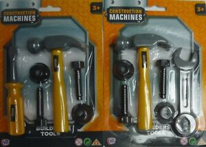Construction Toy Tool Set 6 Builders Tools (Hammer, Screwdriver or Spanner)