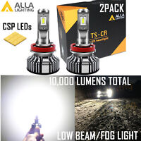 Alla Lighting Super Bright LED H9 White Headlight Bulb Direct Replacement Lamp