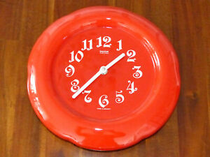 Mauthe Electric Uhr Wanduhr Küchenuhr Keramik 60-/70iger Jahre Vintage neuwertig
