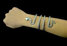 Vintage Style Silver Snake Bangle Shape Open Sanke Adjustable Snake Armlet Cuff