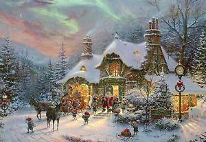 Ceaco's Santa's Night Before Christmas by Thomas Kinkade, 2000 Piece Puzzle