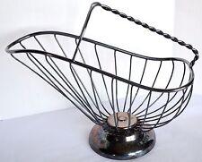 Raimond SilverPlate Patina Wire Bread Fruit Serving Scuttle Basket Bowl Italian