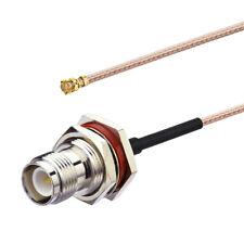 U.fl IPX to RP-TNC female bulkhead coax cable RG178 20cm