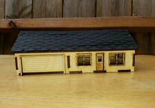 HO scale Model Railroad Train House and garage building Kit