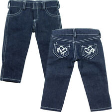 """Doll Clothes fits 18"""" American Girl Heart Pocket Skinny Jeans Detailed Stitching"""