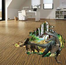3D Dinosaur World T-Rex Jurassic Park Wall Crack Stickers Art Decal Kids Mural