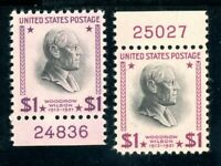 USAstamps Unused VF US $1 Presidential Plate # Scott 832c, 832g Magenta OG MNH