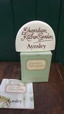 Aynsley China Kitchen Garden Shop Display China Sign - box & leaflet Never Used