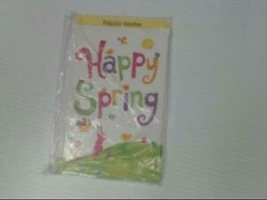 """American Greetings Happy Easter Card """"Happy Spring"""" Glitter Retail Pack of 6"""