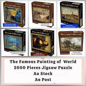 Museum Famous Painting Jigsaw Puzzle 2000 pieces Gift-Van Gogh, Klimt, da Vinci