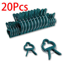 20Pcs Plastic Garden Cane Support Plant Clips Sprung Spring Shrub Ties 2 Sizes