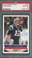 Tom Brady 2013 Panini Score Football Card #123 Graded PSA 10 GEM MINT