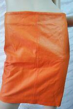 SPORTSGIRL orange wet look mini skirt size S NWOT