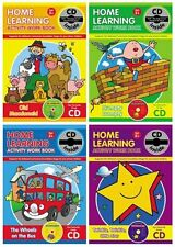 Early Learning Preschool Activity Work Book & CD (4 BOOK COLLECTION) : AU4 NEW