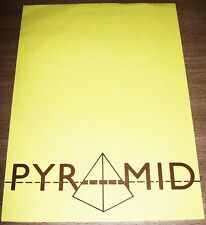 "THE ALAN PARSONS PROJECT UK REC COM PROMO RETAIL INFO SHEET ""PYRAMID"" ALBUM 1978"
