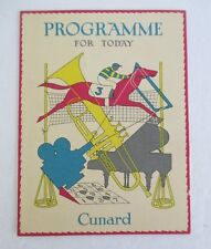 Cunard Line RMS Mauritania Program of Events for Jan 21, 1951