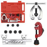 10PC Brake Pipe Flaring Kit Fuel Repair Tool Set Tube Cutter Storage Box Set