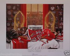 "St. Louis Cardinals baseball ""Cardinal Traditions"" print signed by Greg Gamble"