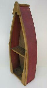 "17"" Wall Wall Mounted Wood  Boat Shelf/Canoe"