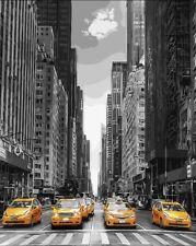 Fai DA TE TELA DIPINTO A OLIO vernice da numeri NEW YORK kit includono colori + pennello