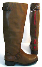 """NWT Mossimo Kayce Size 8 Cognac *15"""" Wide Shaft Top Riding Motorcycle Boots"""