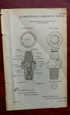 1892 Military Sketch Diagram of Armstrong's Combination Fuze Governor's Island