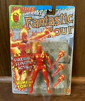 Human Torch Vintage Marvel Superheroes Action Figure New 1992 Toybiz Fantastic 4