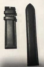Original Movado Black Leather Band Strap for Mens Slim Watch 0607086 or 0607087