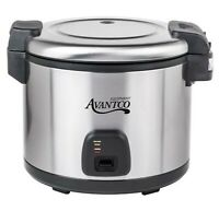 Commercial 60 Cup (30 Cup Raw) Electric Rice Cooker Warmer Stainless Steel 1550W