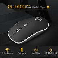 Wireless Mouse Silent 2.4Ghz Ergonomic 1600 DPI Laptop Computer Noiseless Mice